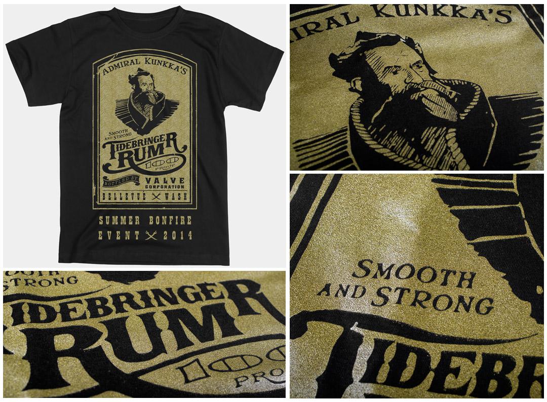 Tidebringer rum - sitodruk farbą efektową