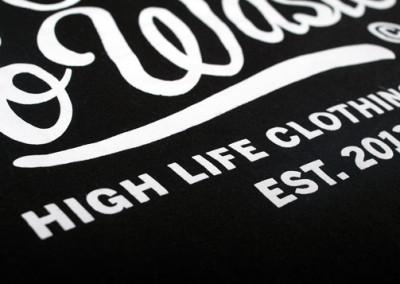 Screen printing on cotton t-shirts – High Life