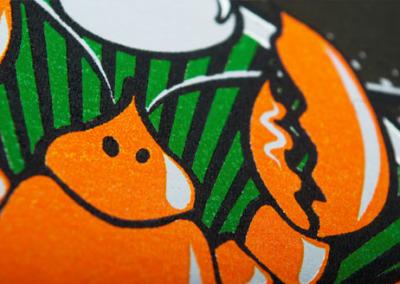 Screen printing on cotton t-shirts – Bób Homar Włoszczyzna