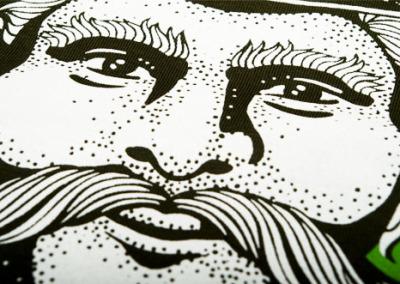 Darz Bór – Screen printing on cotton t-shirts