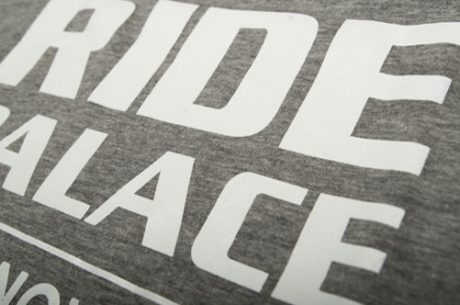 Ride Palace screen printing on cotton t-shirts