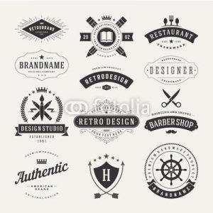 Przykładowe projekty graficzne ze stocków. Można łatwo dostosować je na logo jakiego potrzebujesz.
