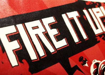 Koszulki z nadrukiem Netwars.pl – Fire it up