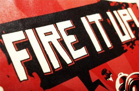 Bedrucktes T-Shirts NetWars.pl Fire it Up