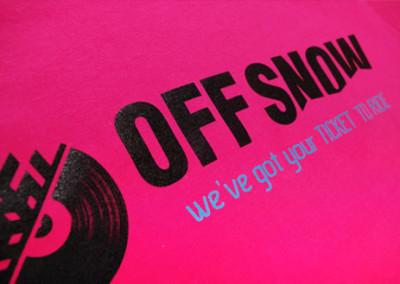 T-Shirts bedruckung Off Snow
