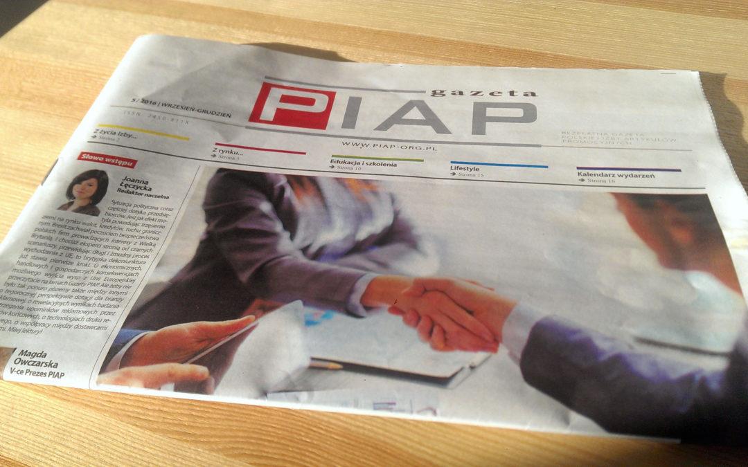 Printexpress.pl dla branżowej Gazety PIAP