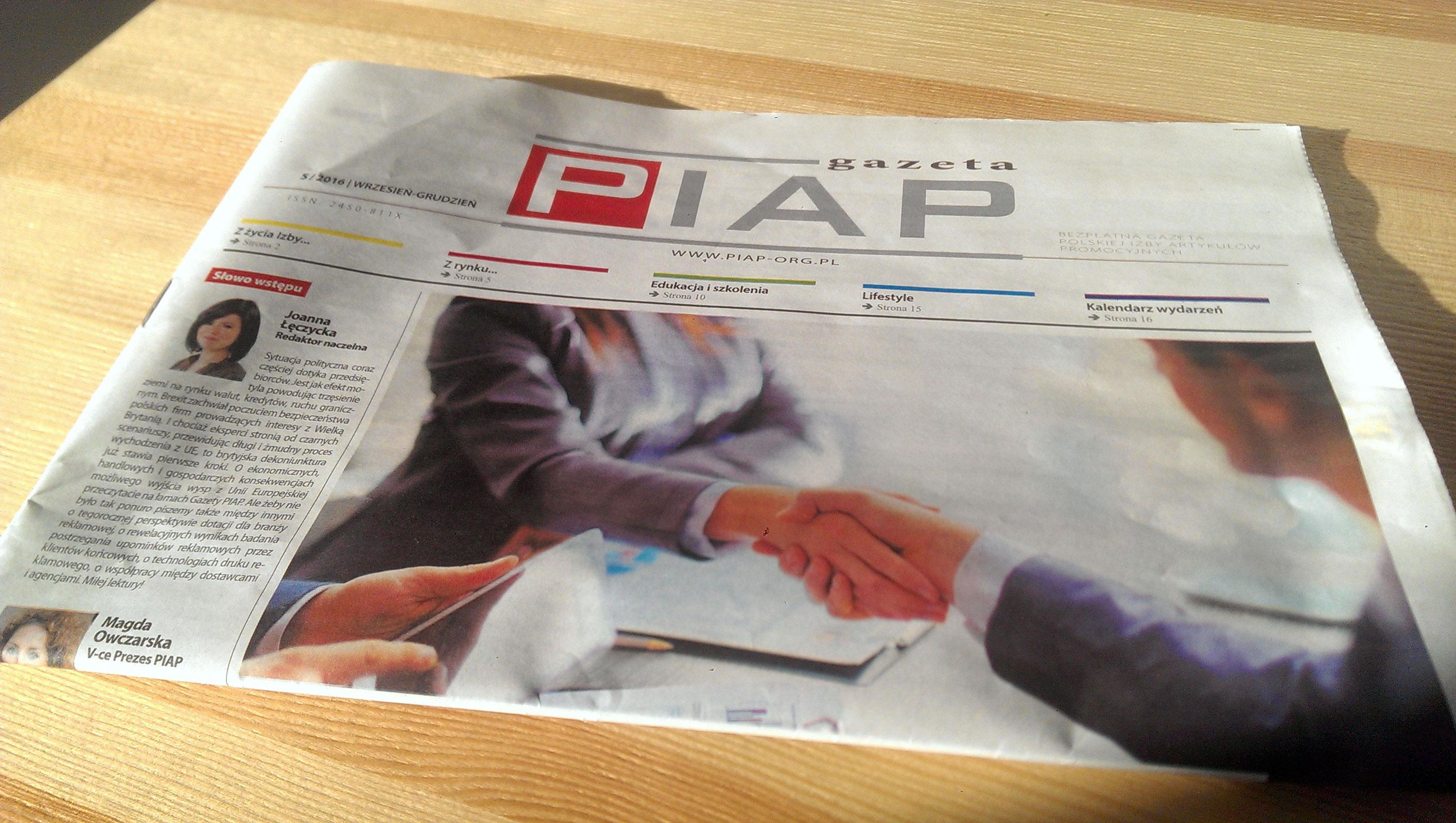 Printexpress.pl für eine Branchenzeitung PIAP