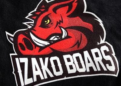 Nadruki na koszulkach IzakoBoars