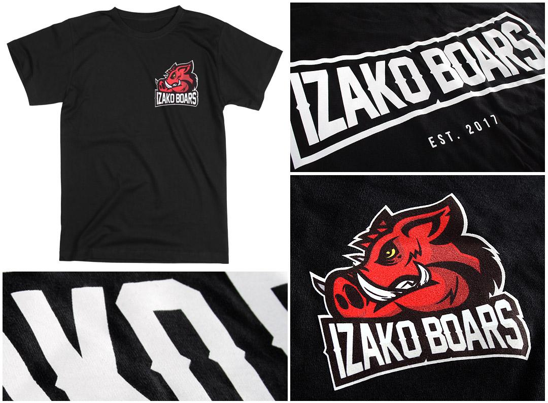 Nadruki na koszulkach - IzakoBoars | Printexpress.pl