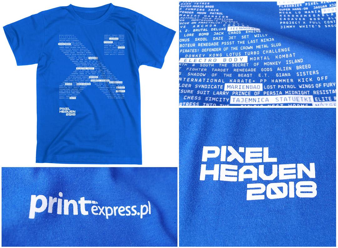 Nadruki na koszulkach - Pixel Heaven 2018 | Printexpress.pl
