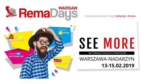 Międzynarodowe targi RemaDays Warsaw 2019 – będziemy tam!